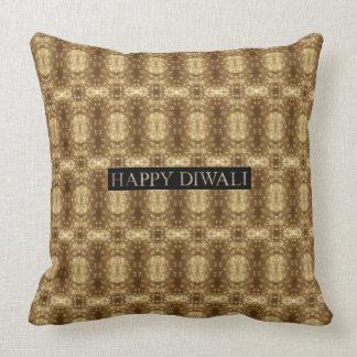 Happy Diwali Festival of Lights Decorative Pattern Cushion
