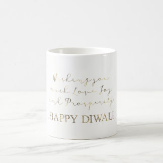 Happy Diwali Festival of Lights Wishes Typography Coffee Mug