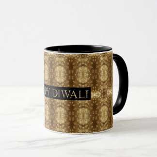 Happy Diwali Festival of Lights Wishes Typography Mug