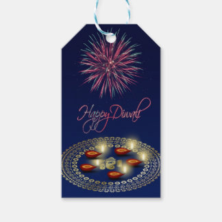 Happy Diwali Ganesha Rangoli - Gift Tag