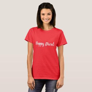 Happy Diwali in decorative script T-Shirt