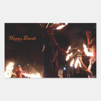 Happy Diwali Rectangle Stickers, Glossy Rectangular Sticker