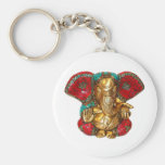 Happy DIWALI -  Thank you GANAPATI Ganesh Basic Round Button Key Ring