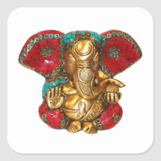 Happy DIWALI -  Thank you GANAPATI Ganesh Square Sticker