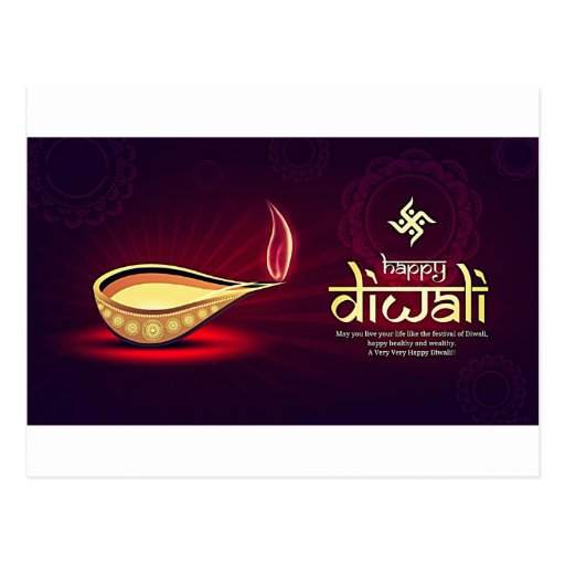 Happy Diwali Wishes Post Card