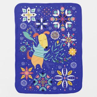 Happy Dog Baby Blanket