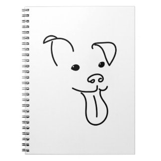 Happy Dog face Notebook