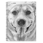 Happy Dog face Spiral Notebook