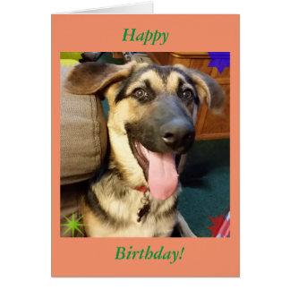 Happy Dog German Shepherd Birthday Card