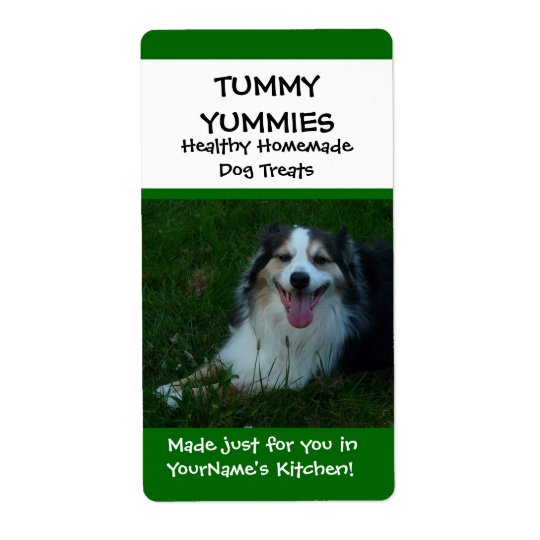 Happy Dog Homemade Treats Kitchen Label Sticker