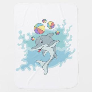 Happy dolphin baby blanket