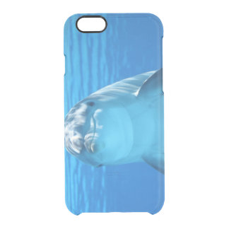 Happy Dolphin Clear iPhone 6/6S Case