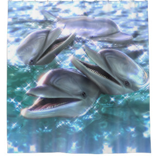 Happy Dolphins Shower Curtain