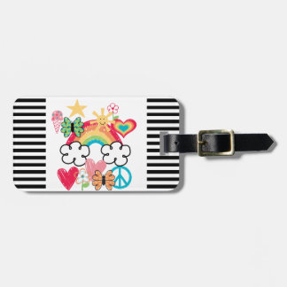 Happy Doodles Bag Tag