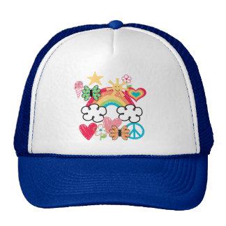 Happy Doodles Mesh Hats