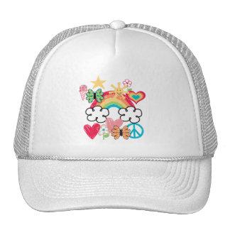 Happy Doodles Mesh Hat