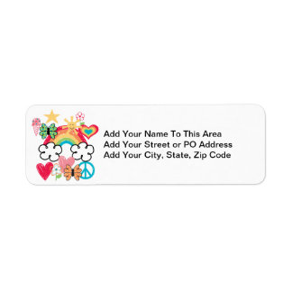 Happy Doodles Return Address Label