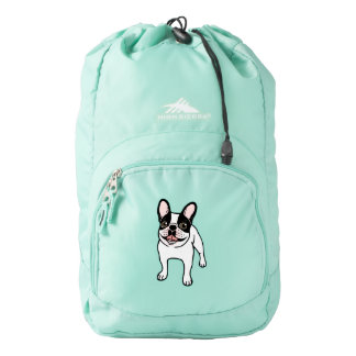 Happy Double Hooded Pied Frenchie Backpack