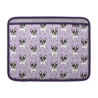 Happy Double Hooded Pied Frenchie MacBook Sleeve