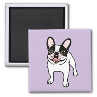Happy Double Hooded Pied Frenchie Magnet