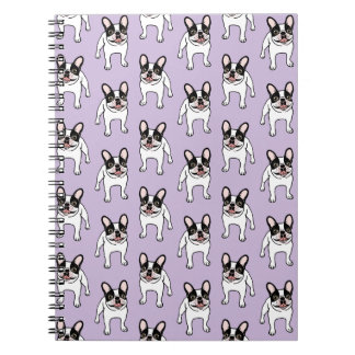 Happy Double Hooded Pied Frenchie Notebook