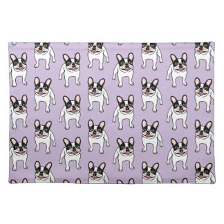 Happy Double Hooded Pied Frenchie Placemat