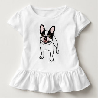 Happy Double Hooded Pied Frenchie Toddler T-Shirt