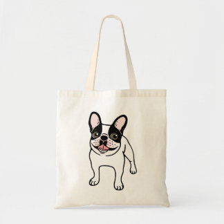 Happy Double Hooded Pied Frenchie Tote Bag