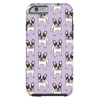 Happy Double Hooded Pied Frenchie Tough iPhone 6 Case