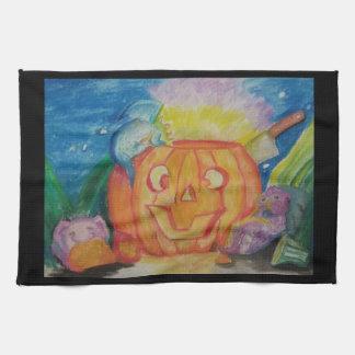 Happy Dragonween Tea Towel