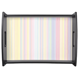 Happy Dream -Elegant Colorful stripe- Serving Tray