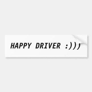 Happy Driver Bumper Sticker