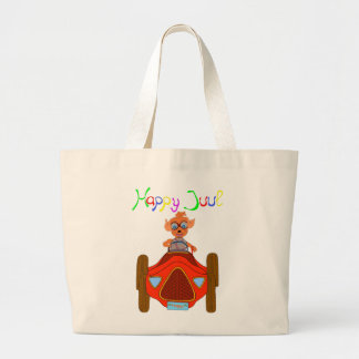 Happy Driving by The Happy Juul Company Large Tote Bag