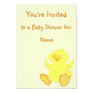 "Happy Duck Baby Shower Invitations 5"" X 7"" Invitation Card"