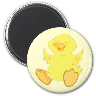 Happy Duck Round Magnets