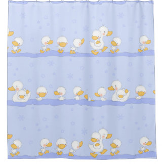 Happy Ducklings Shower Curtain