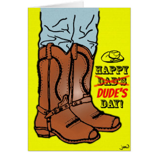 Happy Dude's Day, Dad! Card