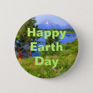 Happy Earth Day 6 Cm Round Badge