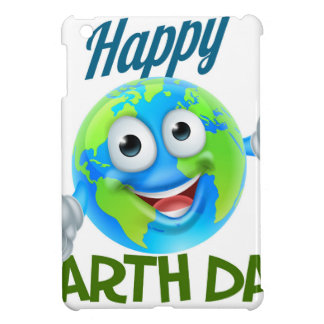 Happy Earth Day Cartoon Globe Mascot Design Case For The iPad Mini