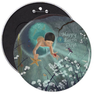 Happy Earth Day - Keepsakes of the Ocean 6 Cm Round Badge