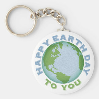 Happy Earth Day Key Ring