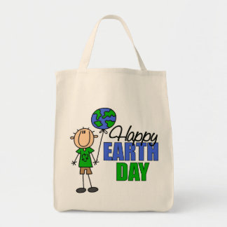 Happy Earth Day Organic Grocery Tote Bag