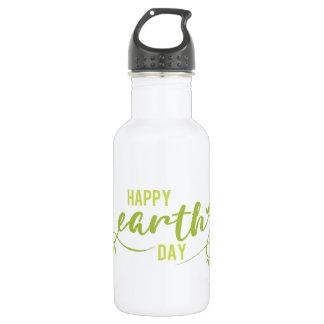 Happy Earth Day Water Bottle 532 Ml Water Bottle