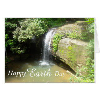 Happy Earth Day Waterfall Card