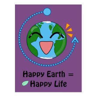 Happy Earth- Postcard (choose color)