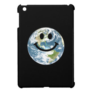 Happy Earth smiley face Case For The iPad Mini