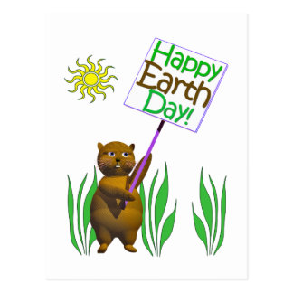Happy Earthday Hedgehog Postcard
