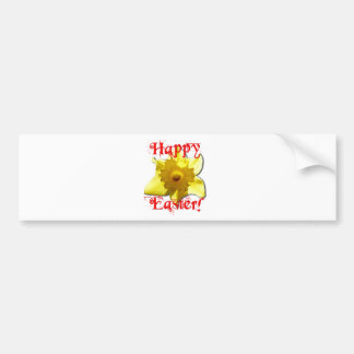 Happy Easter, 02.T Daffodils Bumper Sticker