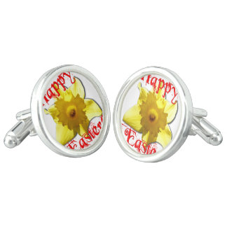 Happy Easter, 02.T Daffodils Cuff Links