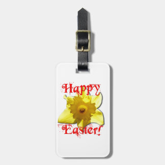 Happy Easter, 02.T Daffodils Luggage Tag